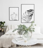 Gallery wall Dreamer Feather black frames