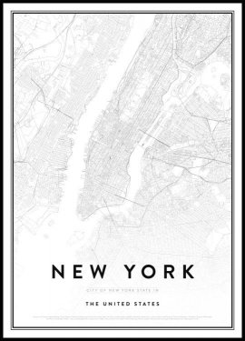 Map of New York Poster