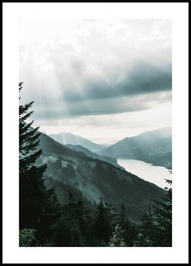Swiss Alps at Sunrise Poster