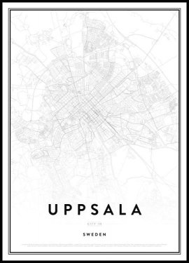 Map of Uppsala Poster