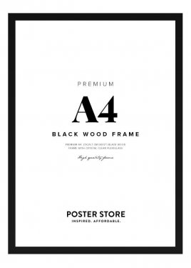 Black Wood Frame 21x30 cm (A4)