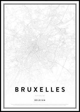 Map of Bruxelles Poster