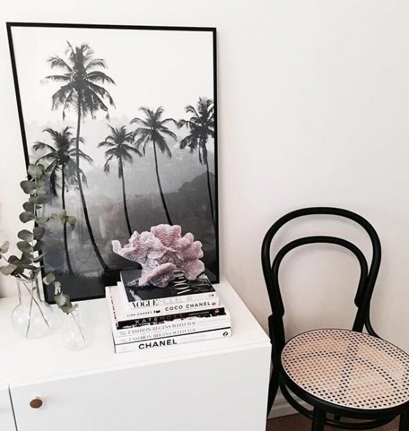 Exotic poster with palm-trees