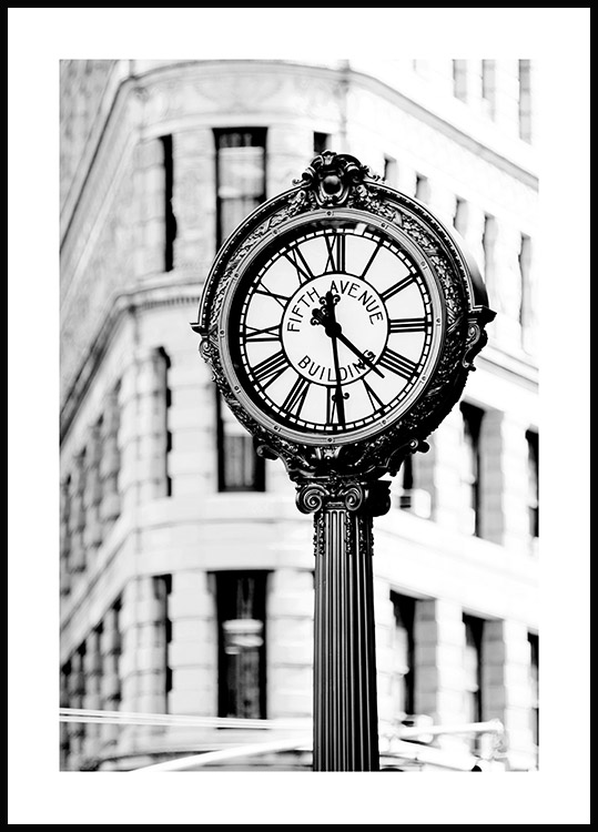 Fifth Avenue Building Clock Poster