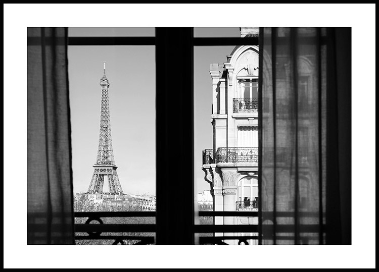 Eiffel Tower View Poster