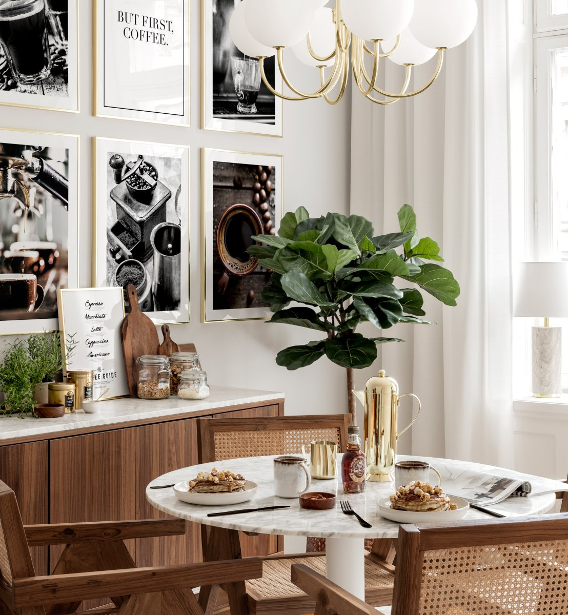 Dining Room Wall Art Coffee Posters, Dining Room Wall Picture Frames